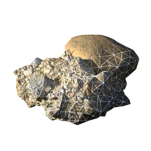 Digital nature rock at Level of Detail 5 and Normal Map